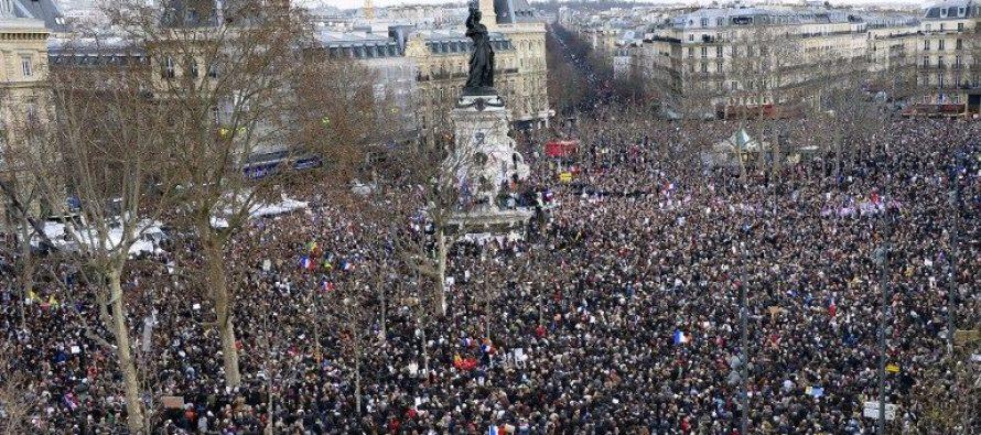 საფრანგეთის სხვადასხვა ქალაქში გამართულ სოლიდარობის მარშში 3 მილიონზე მეტი ადამიანი მონაწილეობდა