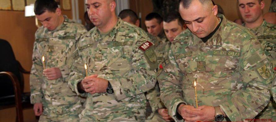 ქართველმა ჯარისკაცებმა ავღანეთში ნათლისღება აღნიშნეს