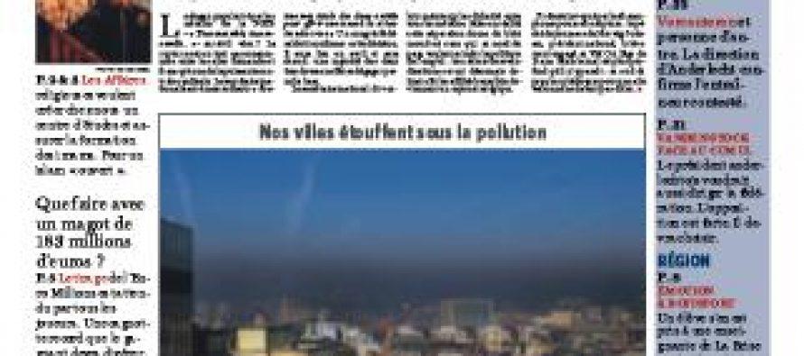 """ბრიუსელში გაზეთ """"Le Soir""""-ის რედაქციიდან თანამშრომელთა ევაკუაცია განხორციელდა"""