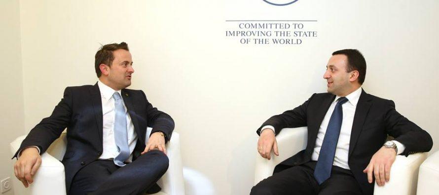 ირაკლი ღარიბაშვილი ლუქსემბურგის დიდი საჰერცოგოს პრემიერ-მინისტრს შეხვდა