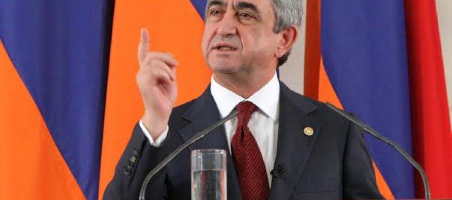 სომხეთის პრეზიდენტი თურქეთში არ წავა