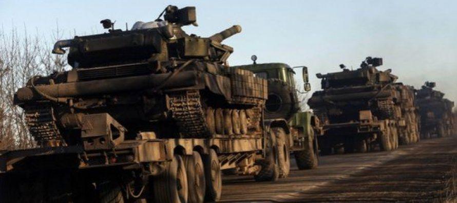კიევი: უკრაინის საზღვართან 50 ათასი რუსი ჯარისკაცი დგას