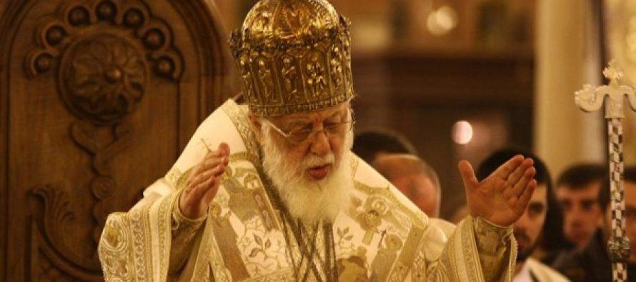 ილია II მახათას მთაზე პარაკლისს გადაიხდის და ბავშვებს დალოცავს