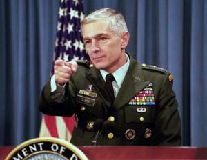 გენერალი კლარკი: დიპლომატია არ იმუშავებს სანამ აშშ უკრაინას იარაღით არ მოამარაგებს