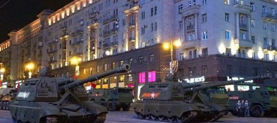 9 მაისის პარადის რეპეტიცია მოსკოვში (VIDEO)