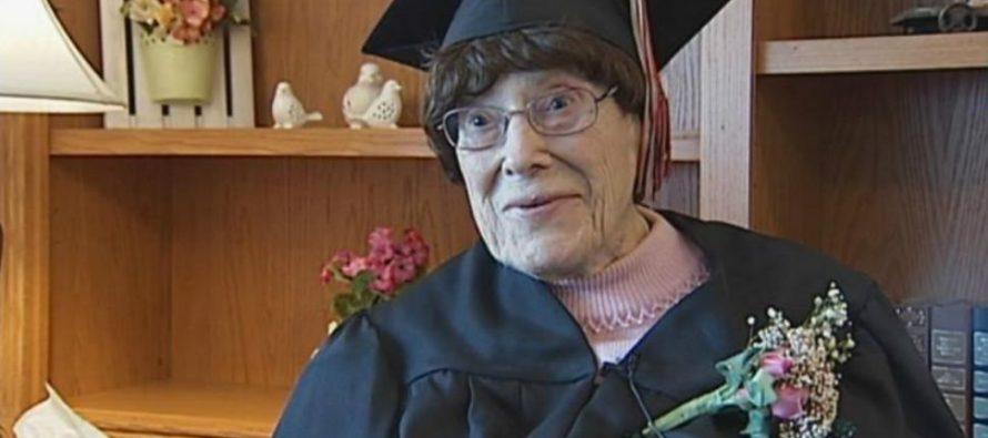 ბებომ  სკოლა 103 წლის ასაკში დაამთავრა (ვიდეო)