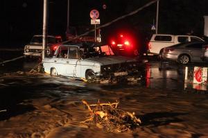 თბილისში სტიქიის შედეგად ერთი ადამიანი დაიღუპა და ხუთი დაკარგულად ითვლება