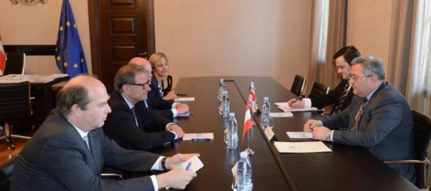 დავით უსუფაშვილი ავსტრიის ეროვნული საბჭოს ვიცე პრეზიდენტს შეხვდა
