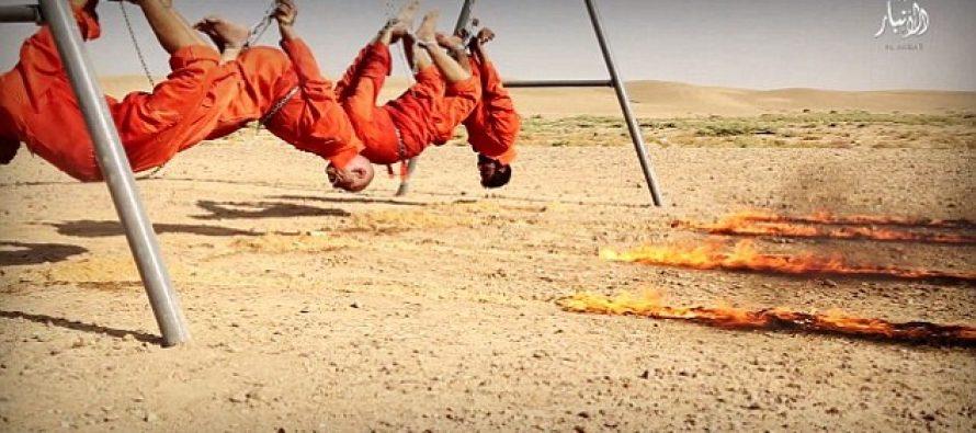 ,,ისლამურმა სახელმწიფომ,, ოთხი ტყვე ცოცხლად დაწვა (VIDEO)