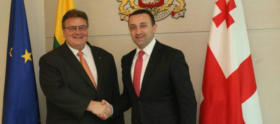 პრემიერ-მინისტრი ირაკლი ღარიბაშვილი ლიტვის საგარეო საქმეთა მინისტრს შეხვდა