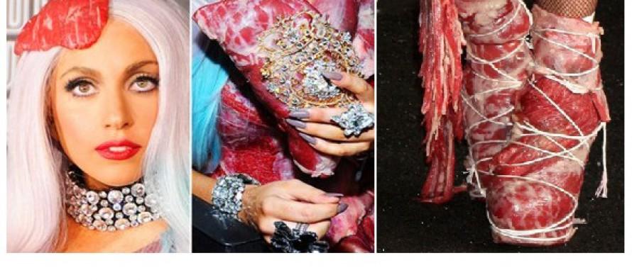 ლედი გაგას ,,ხორცის ტანსაცმელი,, დააკონსერვეს… (ფოტოები)