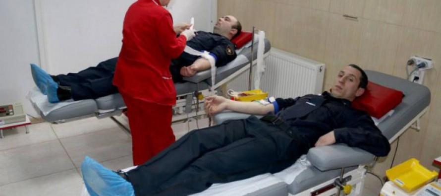 შსს-ს შიდა ქართლის დანაყოფებმა ლეიკემიით დაავადებული ბავშვებისთვის სისხლი გაიღეს