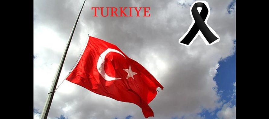თურქეთმა 3 დღიანი გლოვა გამოაცხადა…