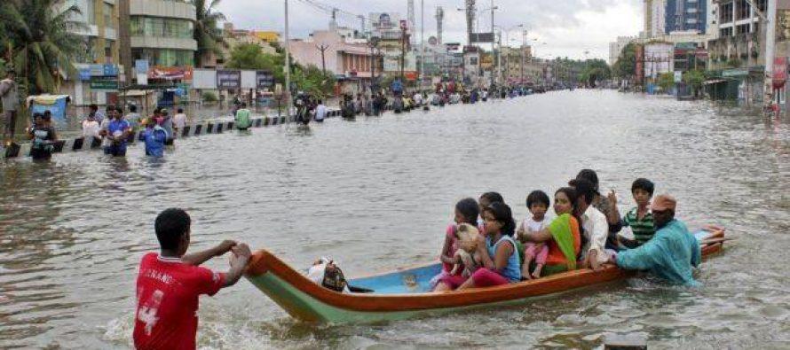 წყალდიდობა ინდოეთში (ფოტოები)