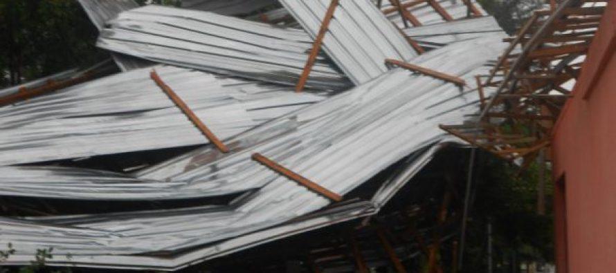 სოფელ სანავარდოში ძლიერმა ქარმა საცხოვრებელი სახლები დააზიანა