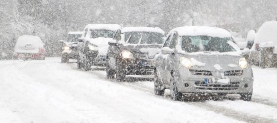 თოვისა და ქარბუქის გამო, კობი-გუდაურის მონაკვეთზე ავტოტრანსპორტისთვის მოძრაობა აიკრძალა