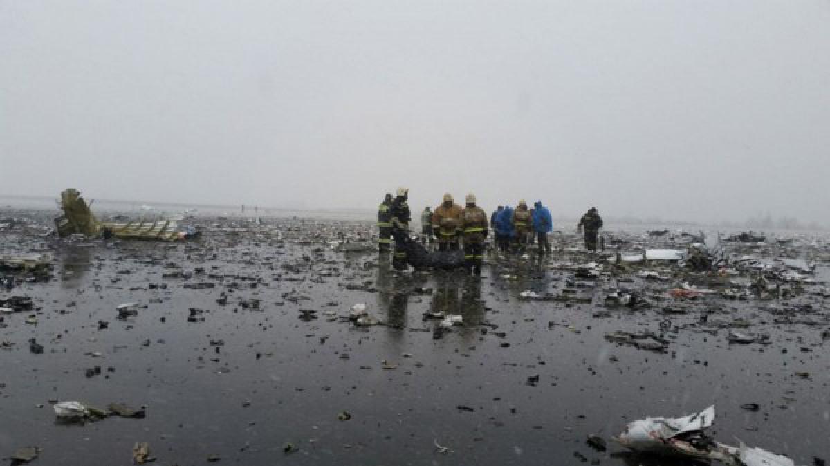 დონის როსტოვის აეროპორტში თვითმფრინავი 100 მეტრი სიმაღლიდან ჩამოვარდა