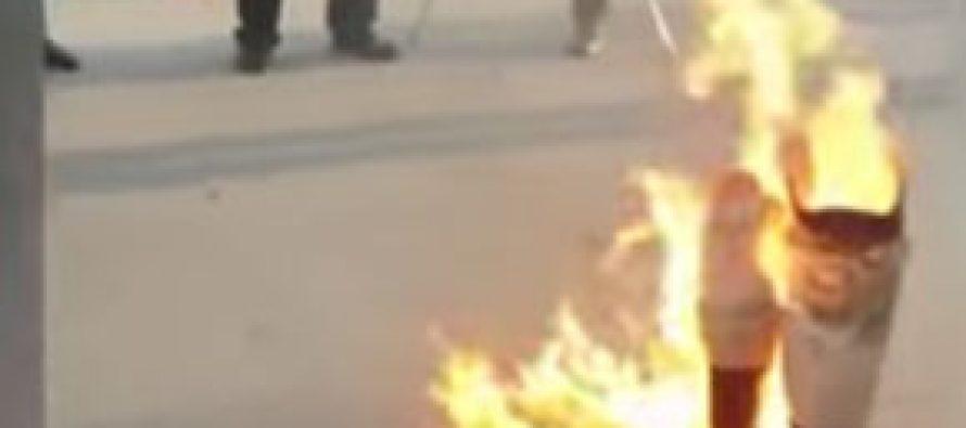 (video) ყარაბაღის ომის ვეტერანებმა საქართველოს საზღვართან პროტეზები დაწვეს