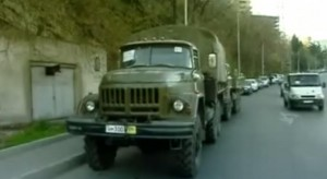 თბილისში რუსული სატვირთო მანქანები გამოჩნდა