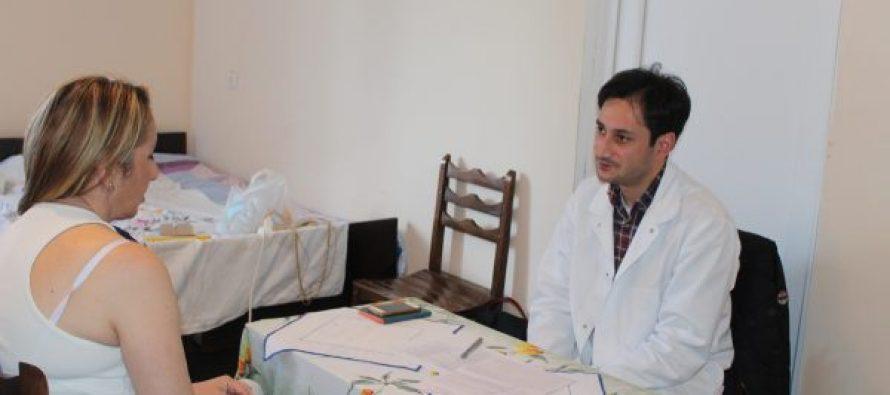 სამტრედიის შემდეგ უფასო სამედიცინო გამოკვლევები დევნილებს ბაკურციხეში ჩაუტარდებათ