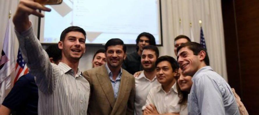 კახა კალაძე სან დიეგოს სახელმწიფო უნივერსიტეტის სტუდენტებს შეხვდა