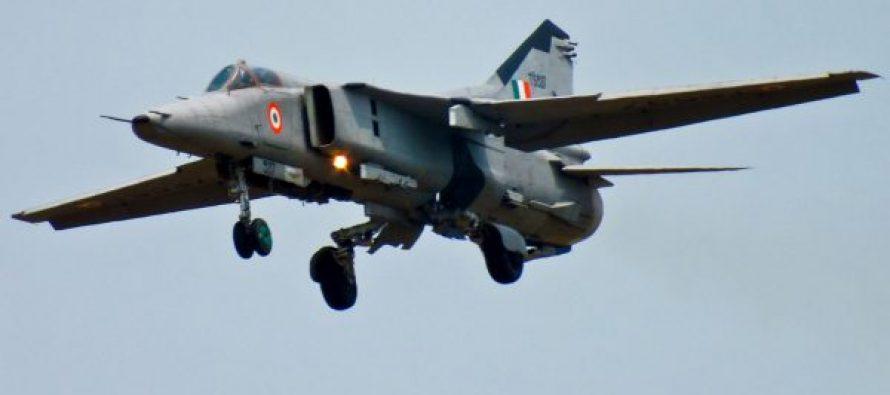 ინდოეთში გამანადგურებელი მიგ-27 ჩამოვარდა