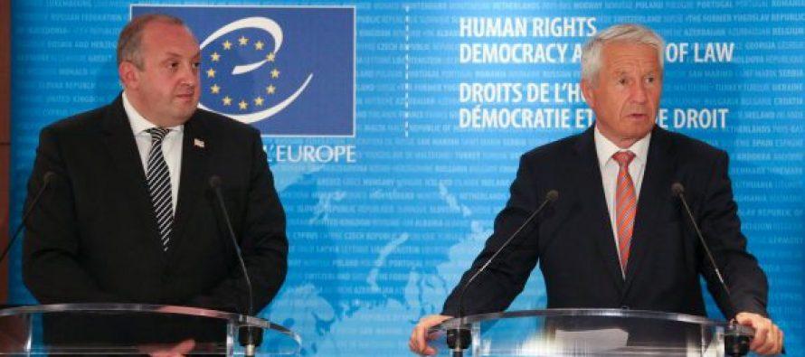 ტორბიორნ იაგლანდი – ევროპის საბჭო აფასებს პრეზიდენტის ჩართულობას საკონსტიტუციო სასამართლოს რეფორმირების საკითხში