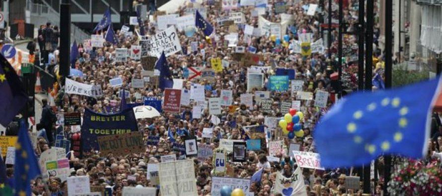 """დღეს ლონდონში """"ბრექსიტის"""" წინააღმდეგ 40 ათასი ადამიანი გამოვიდა"""