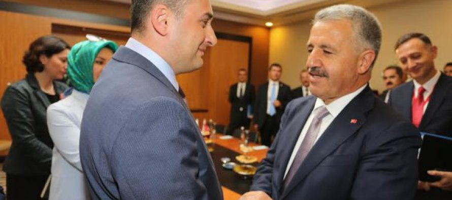დიმიტრი ქუმსიშვილი თურქეთის ტრანსპორტის, საზღვაო საქმეთა და კომუნიკაციების მინისტრს შეხვდა