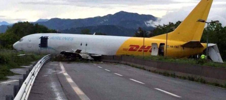 იტალიაში სატვირთ თვითმფრინავი სამანქანო გზაზე გავიდა