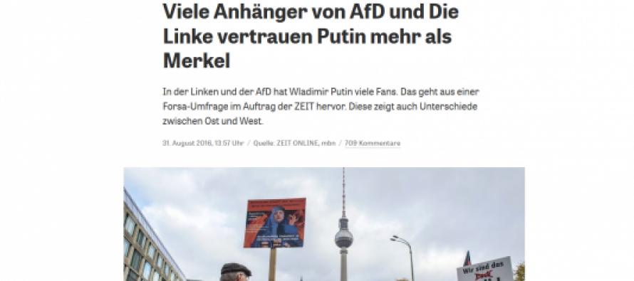 გერმანული მედია: გერმანიის ოპოზიცია პუტინს უფრო ენდობა, ვიდრე მერკელს