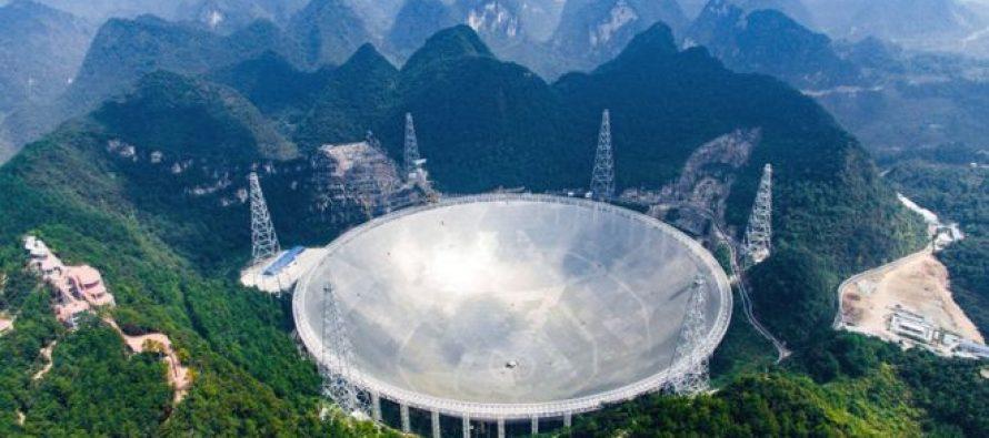 ჩინეთმა მსოფლიოში ყველაზე დიდი რადიოტელესკოპი ჩაუშვა