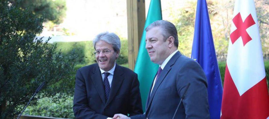 მომავალი წლის იანვარში პრემიერ–მინისტრი იტალიის რესპუბლიკას ეწვევა