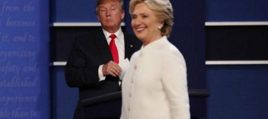 ამ დროისთვის ასებული მონაცემებით, აშშ-ის საპრეზიდენტო არჩევნებში ჰილარი კლინტონი ლიდერობს