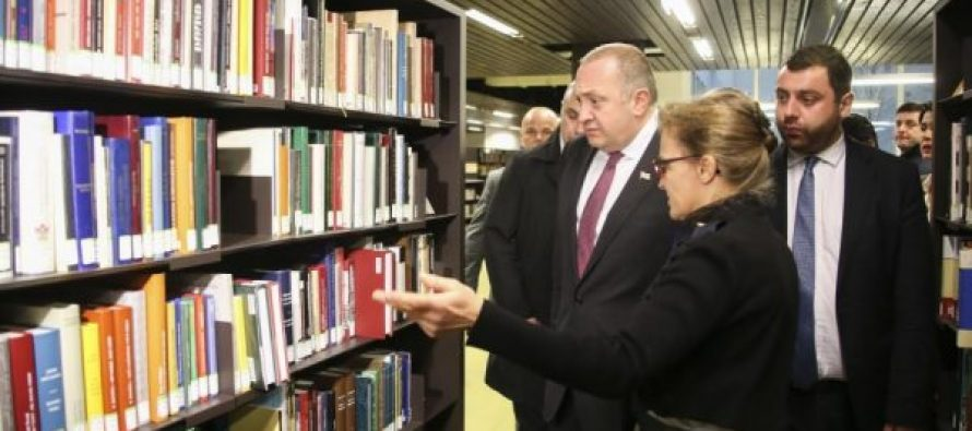 პრეზიდენტი ინალკოში ქართული ენის კათედრის პროფესორებსა და სტუდენტებს შეხვდა