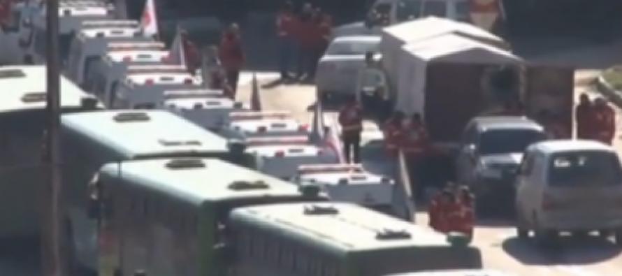 (video) ალეპოდან ამბოხებული ოპოზიციის ევაკუაციის კადრები გავრცელდა