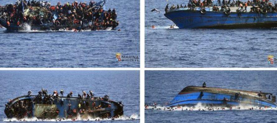 ხმელთაშუა ზღვაში 100-მდე მიგრანტი დაიკარგა