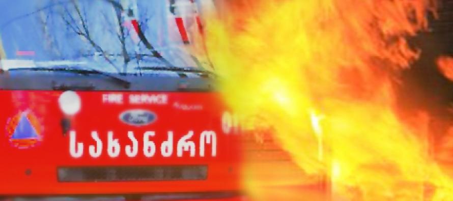ხანძარი დიდუბეში – ცეცხლი საბურავებს გაუჩნდა