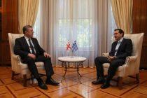 """""""მოხარული ვარ, რომ საქართველოსათვის ამ უმნიშვნელოვანეს დღეს საბერძნეთი გმასპინძლობთ"""" – საბერძნეთის პრემიერ-მინისტრი"""