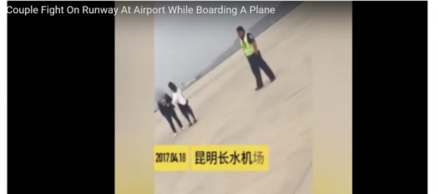 (Video) ჩინეთში რეისი ცოლ-ქმრის ჩხუბის გამო ნახევარი საათით გადაიდო