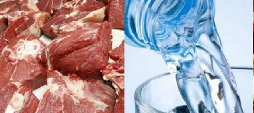 ტყვიის გადაჭარბებული ოდენობა ხორცში, წყალში, რძესა და ჭარხალაში
