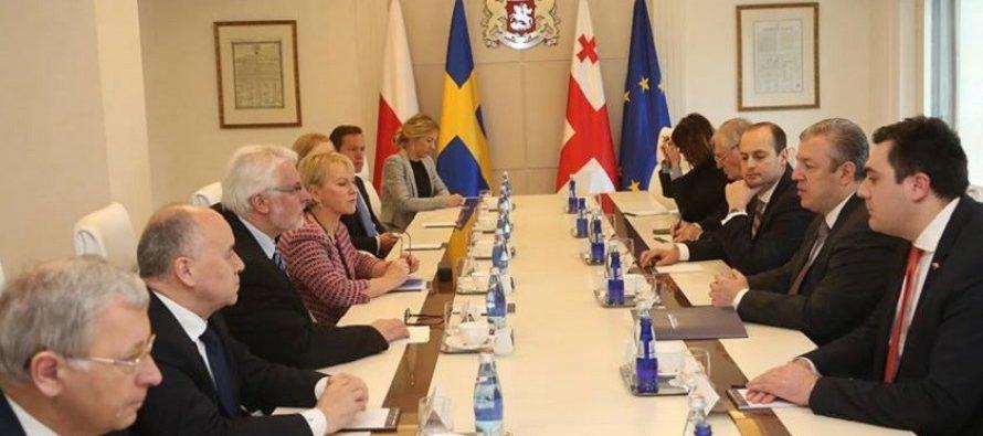 შვედეთის და პოლონეთის მინისტრები: საქართველო აღმოსავლეთ პარტნიორობის ლიდერია