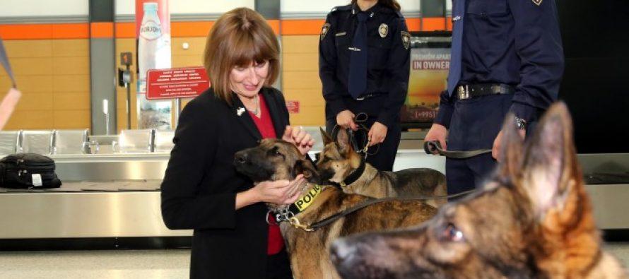 ამერიკულმა მხარემ შსს-ს კიდევ 6 სამომსახურეო ძაღლი გადასცა