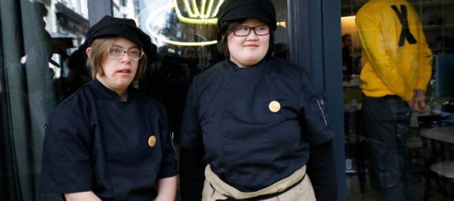 პარიზში დაუნის სინდრომის მქონეები კაფეში იმუშავებენ