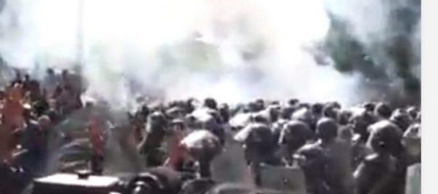 ერევანში პროტესტანტებსა და პოლიციას შორის შეტაკება დაიწყო