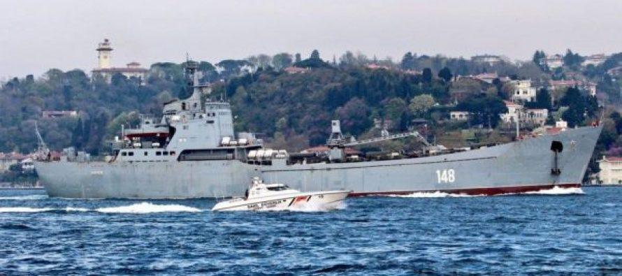 """ხმელთაშუა ზღვაში რუსული სამხედრო-სადესანტო ხომალდი """"ორსკი"""" შევიდა"""