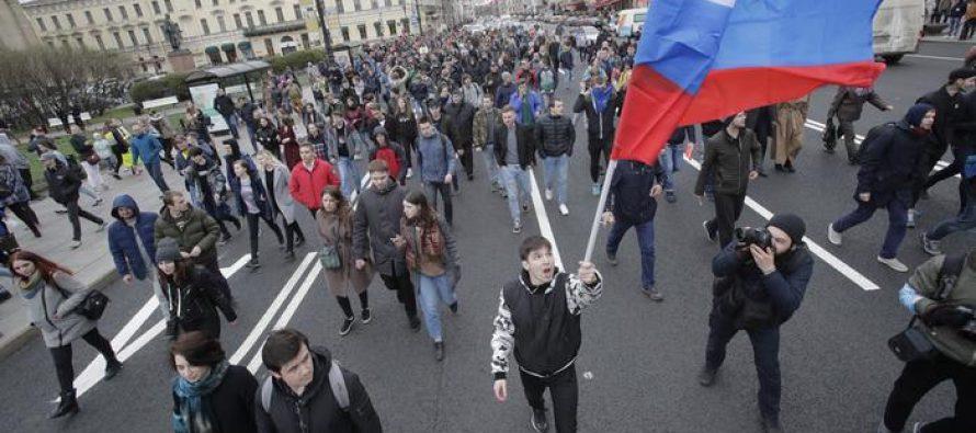 სანკტ-პერეტბურგში აქციის 229 მონაწილე დააკავეს