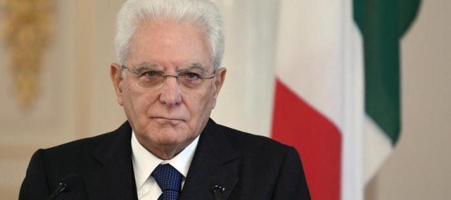 """იტალიის პრეზიდენტი """"ნეიტრალური მთავრობის""""  ფორმირების წინადადებით გამოდის"""