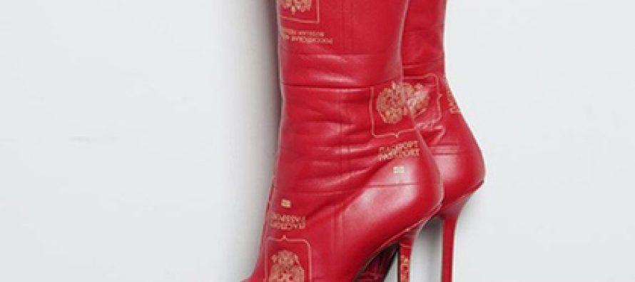 ქართველმა დიზაინერმა რუსული პასპორტები ფეხსაცმლის დიზაინისთვის გამოიყენა