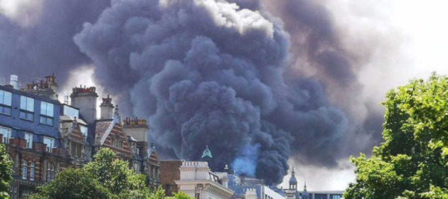 ლონდონში სასტუმროს ცეცხლი გაუჩნდა